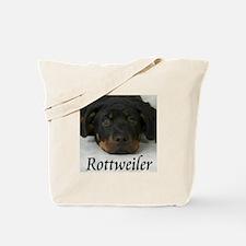 Rottie Pup Tote Bag