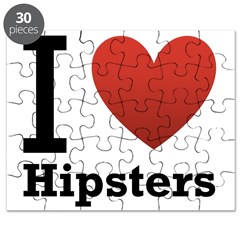 I Love Hipsters Puzzle