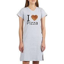 I Heart Pizza Women's Nightshirt