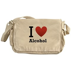 I Love Alcohol Messenger Bag