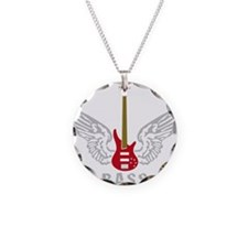 Funny Drum and bass Necklace Circle Charm