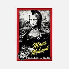 Mona Mohawk Rectangle Magnet