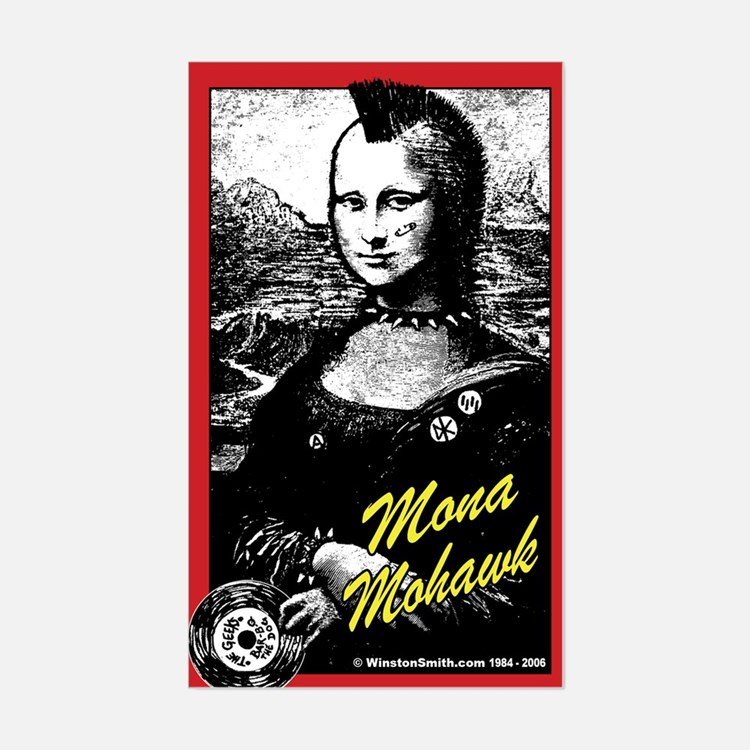 Mona Mohawk Rectangle Decal