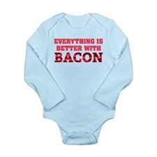 Bacon Long Sleeve Infant Bodysuit