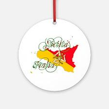 Sicilia Italia Ornament (Round)