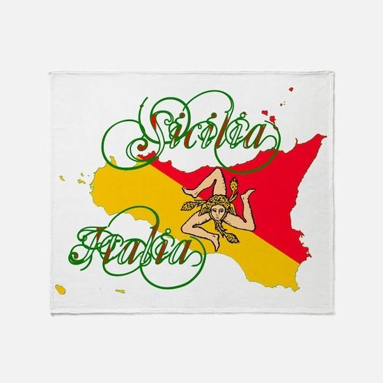 Sicilia Italia Throw Blanket