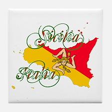 Sicilia Italia Tile Coaster