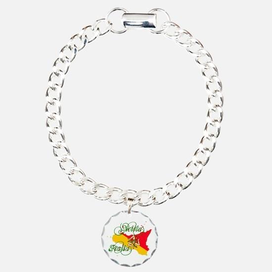 Sicilia Italia Charm Bracelet, One Charm
