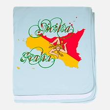 Sicilia Italia baby blanket