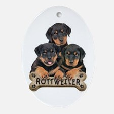 its a puppy thing! Oval Ornament