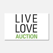 Live Love Auction Car Magnet 20 x 12