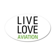 Live Love Aviation Wall Decal