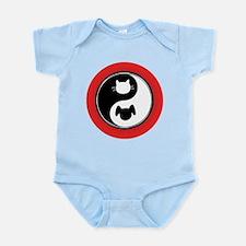 Yin Yang Cat Dog Infant Bodysuit