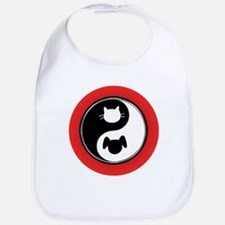 Yin Yang Cat Dog Bib
