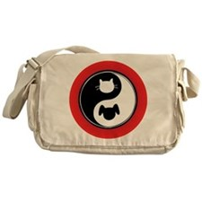 Yin Yang Cat Dog Messenger Bag