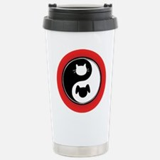 Yin Yang Cat Dog Travel Mug