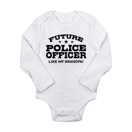 Future Police Officer Long Sleeve Infant Bodysuit