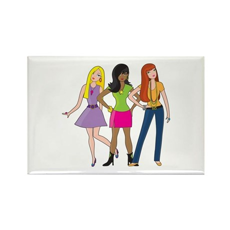 Fashion Girls Rectangle Magnet (100 pack)