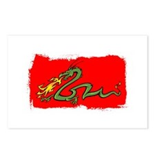 Green Dragon on Red. Postcards (Package of 8)