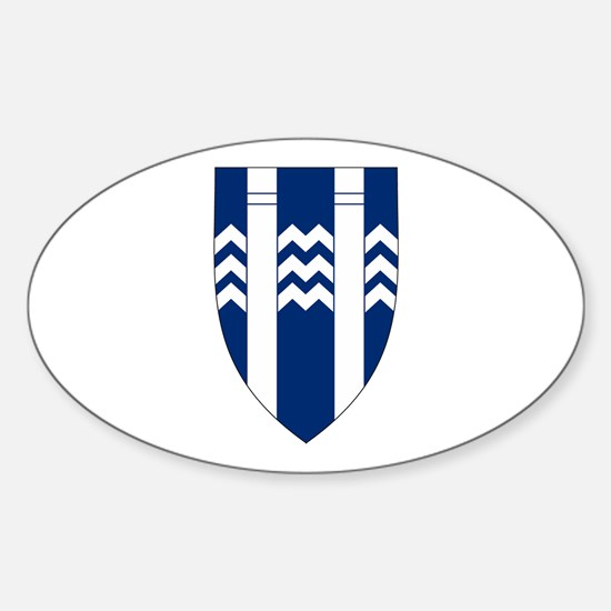 Reykjavik Coat of Arms Oval Decal