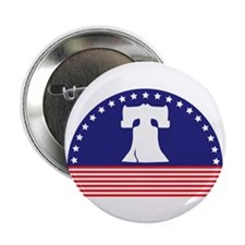 """Liberty Bell Flag 2.25"""" Button (100 pack)"""