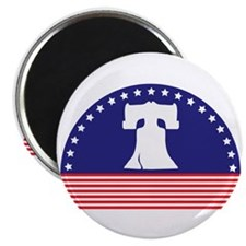 "Liberty Bell Flag 2.25"" Magnet (10 pack)"