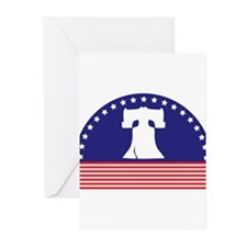 Liberty Bell Flag Greeting Cards (Pk of 10)