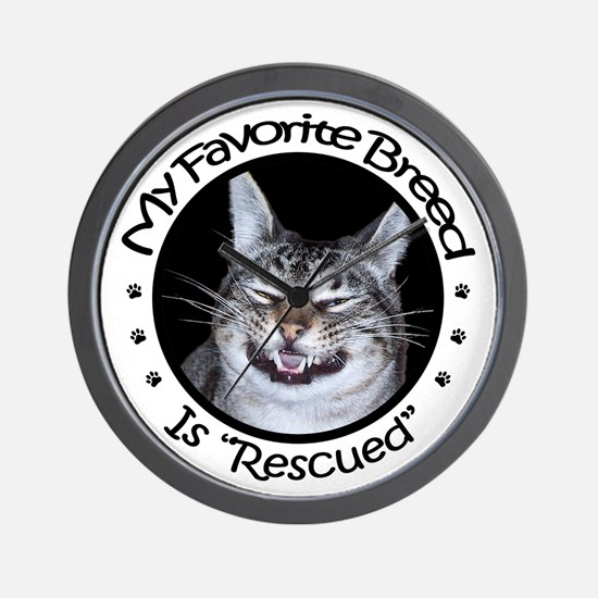 My Favorite Breed Is Rescued Wall Clock