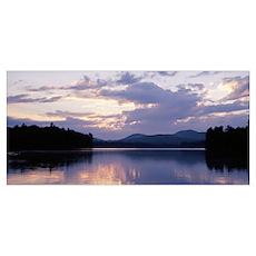 Sunset Rollins Pond Adirondack Mountains NY Poster