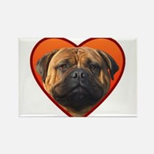 Valentine's Bullmastiff Rectangle Magnet (100 pack