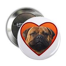 """Valentine's Bullmastiff 2.25"""" Button"""