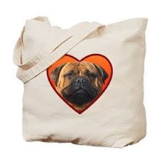 Valentine's Bullmastiff Tote Bag