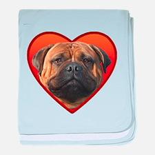 Valentine's Bullmastiff baby blanket