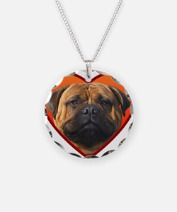 Valentine's Bullmastiff Necklace