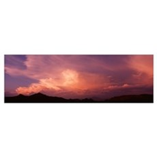 Arizona, Four Peaks, Sunset Poster