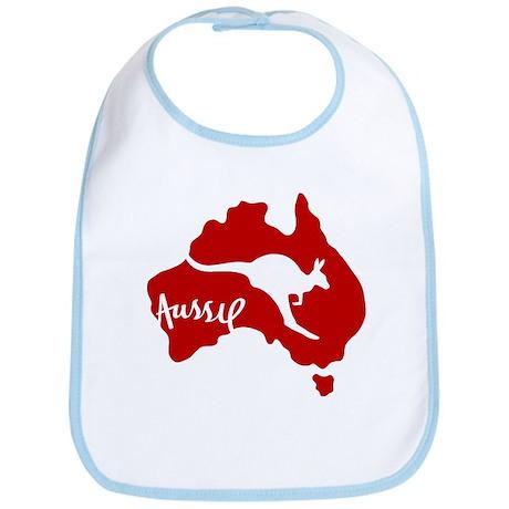 Aussie Roo Red Bib