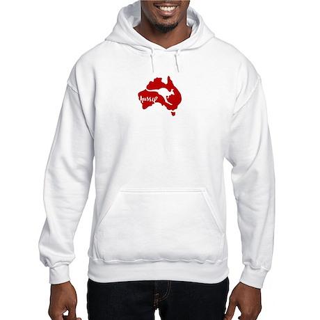 Aussie Roo Red Hooded Sweatshirt