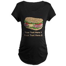 Sandwich. Custom Text. T-Shirt