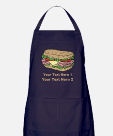 Sandwich. Custom Text. Apron (dark)