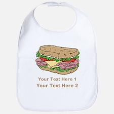 Sandwich. Custom Text. Bib
