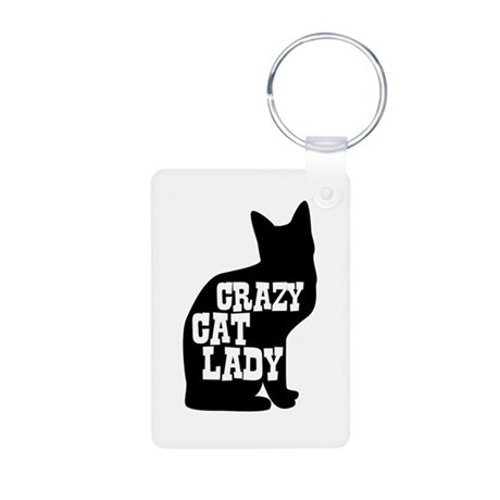 Crazy Cat Lady Aluminum Photo Keychain