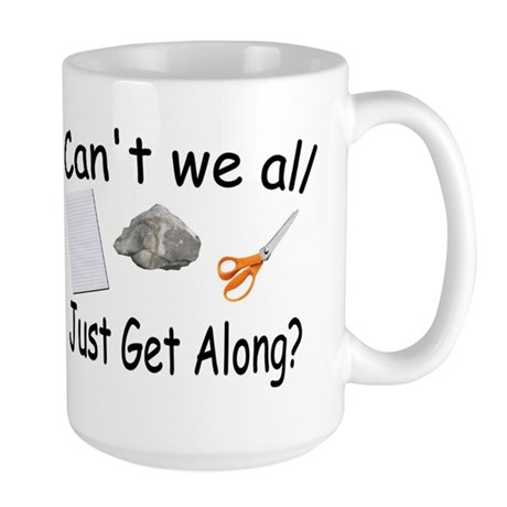 Paper, Rock, Scissors Large Mug