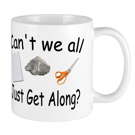 Paper, Rock, Scissors Mug
