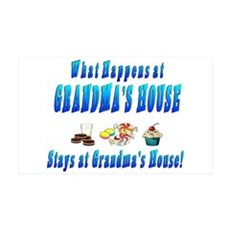 What Happens At Grandma's House Wall Decal