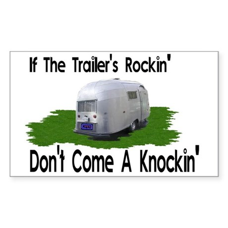 If The Trailers Rockin' Rectangle Sticker