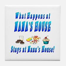 What Happens At Nana's House Tile Coaster