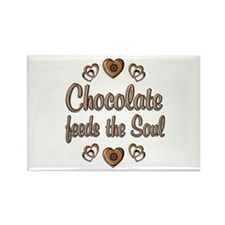 Chocolate Feeds Souls Rectangle Magnet (10 pack)