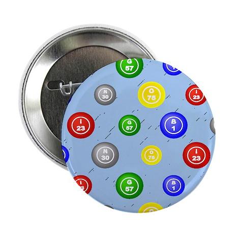 "Bingo Balls Blue 2.25"" Button"