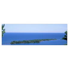 Michigan, Upper Peninsula, Porters Island, Aerial  Poster