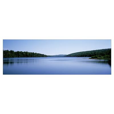 Michigan, Upper Peninsula, Copper Harbor, Silhouet Poster